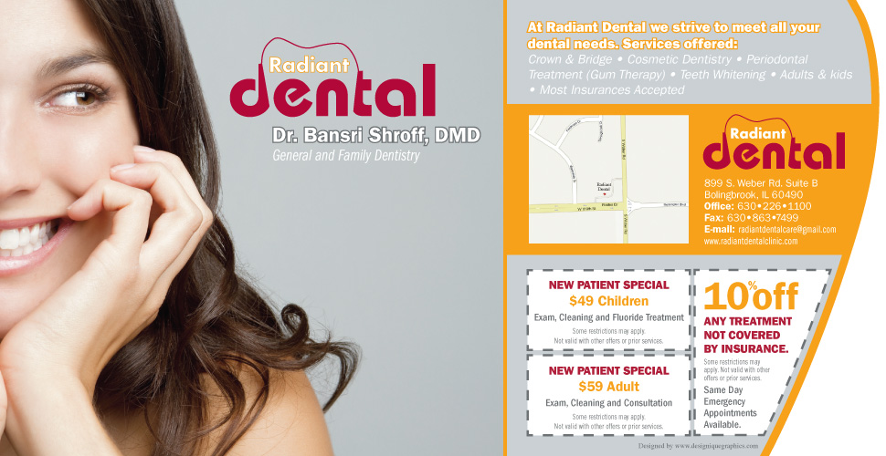 Radiant Dental :: 899 S. Weber Rd, Bolingbrook, IL :: 630-226-1100